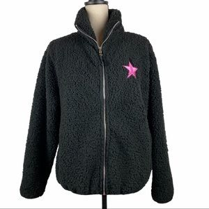 Jeffree Star APPROVED Faux Sherpa Jacket Black